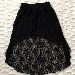 High Low  lace skirt from forever21 SZ: M